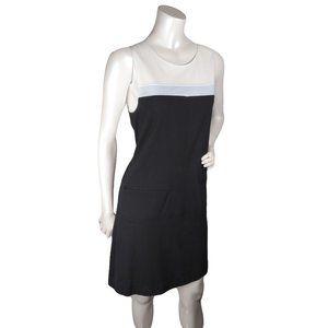Sanctuary Colourblock Navy White Sheath Dress Sz L